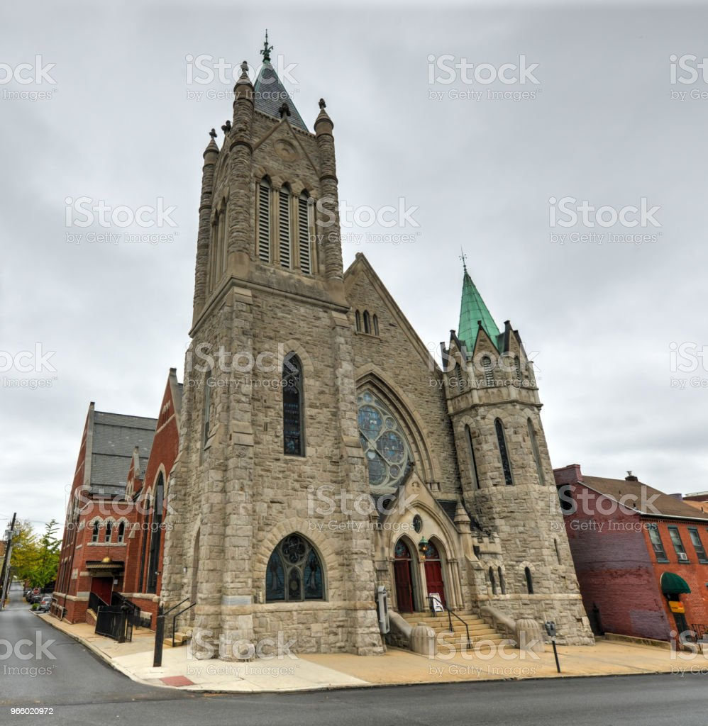 Saint John Lutheran Church - Lancaster, PA - Lizenzfrei Architektur Stock-Foto