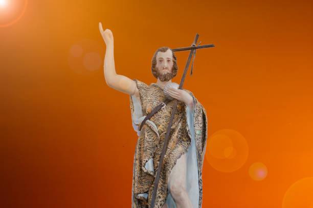 Saint John the Baptist of the Catholic Church stock photo