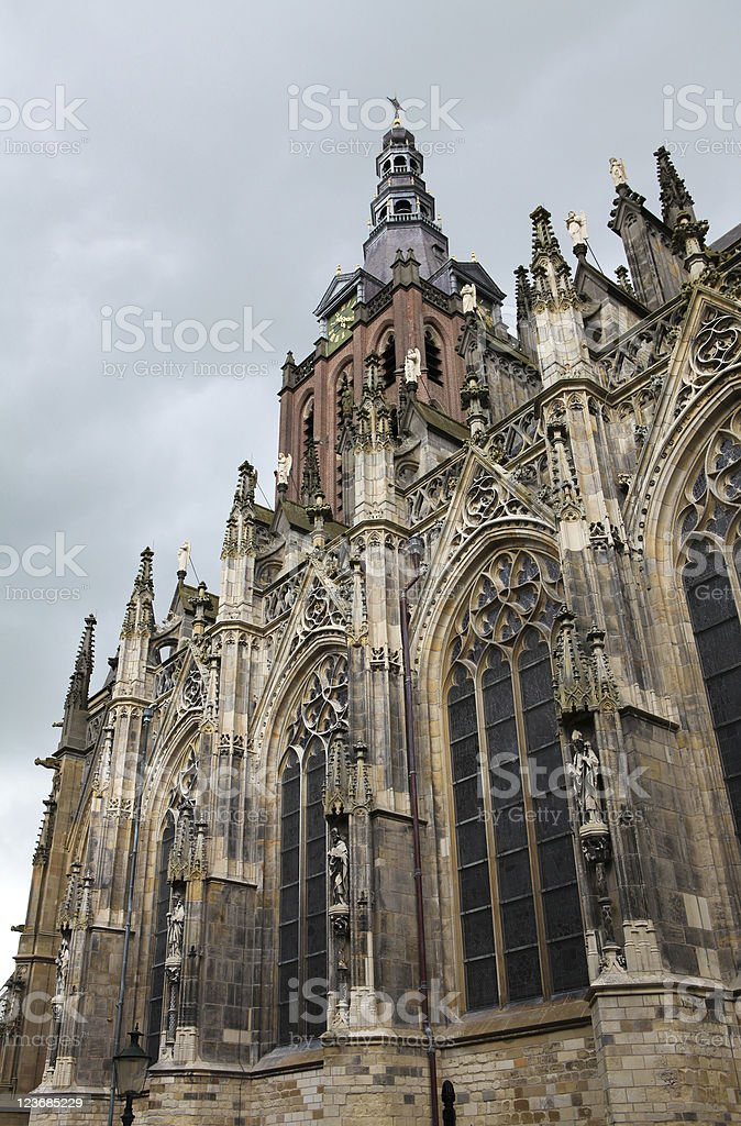 Saint Johns Cathedral in Den Bosch stock photo