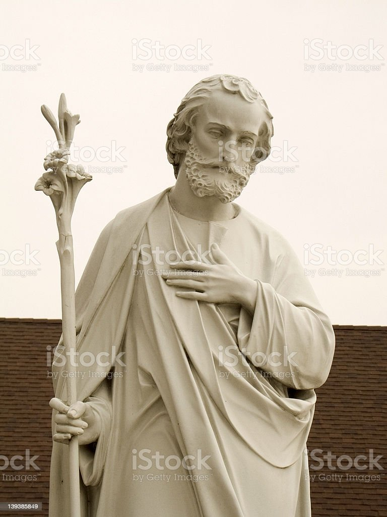 Saint Joseph Statue Up-Close royalty-free stock photo