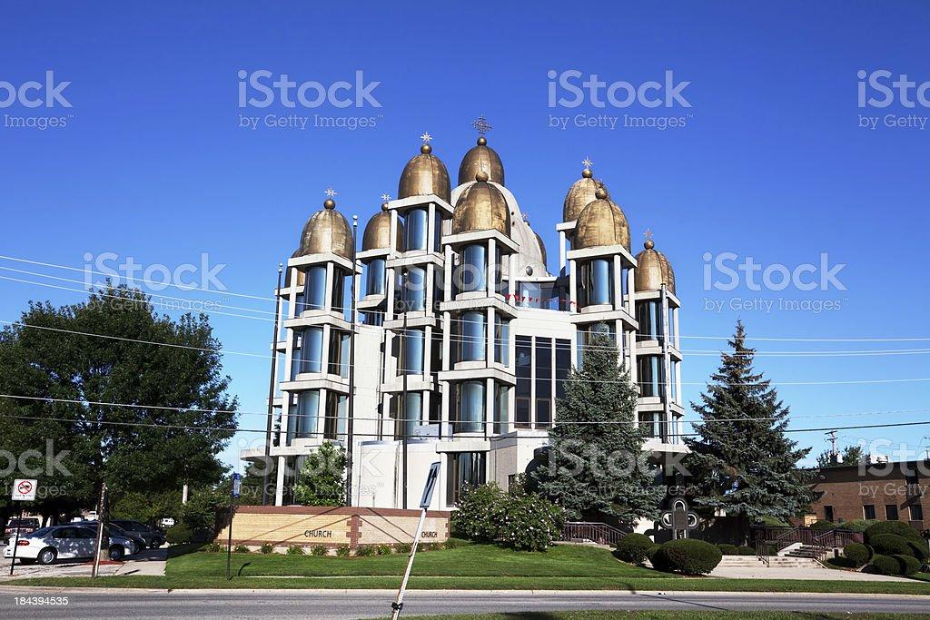 Saint Joseph Ukrainian Catholic Church in OHare, Chicago royalty-free stock photo