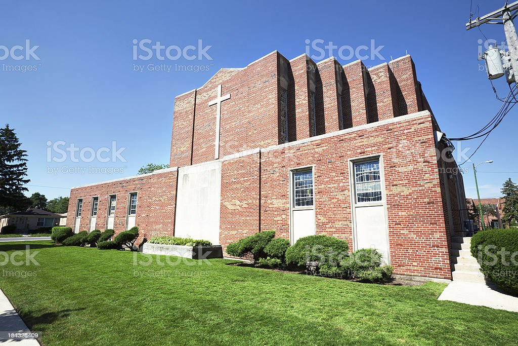 Saint Juliana Church in Edison Park, Chicago royalty-free stock photo