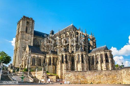 Saint Julien Cathedral of Le Mans in Pays de la Loire, France