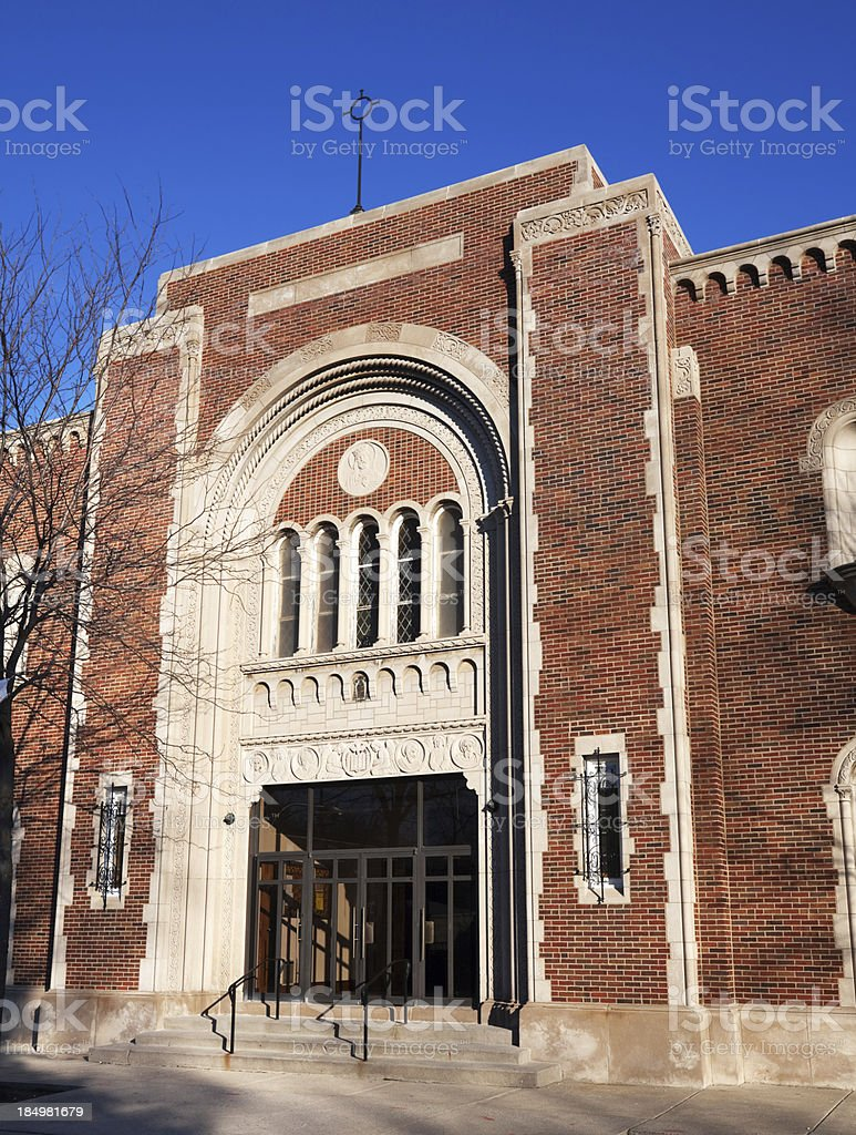 Saint Justin Martyr Church in West Englewood, Chicago royalty-free stock photo