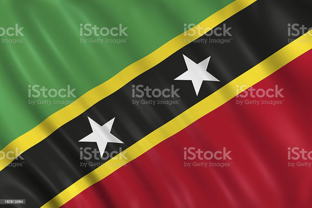 saint kitts and nevis flag royalty-free stock photo