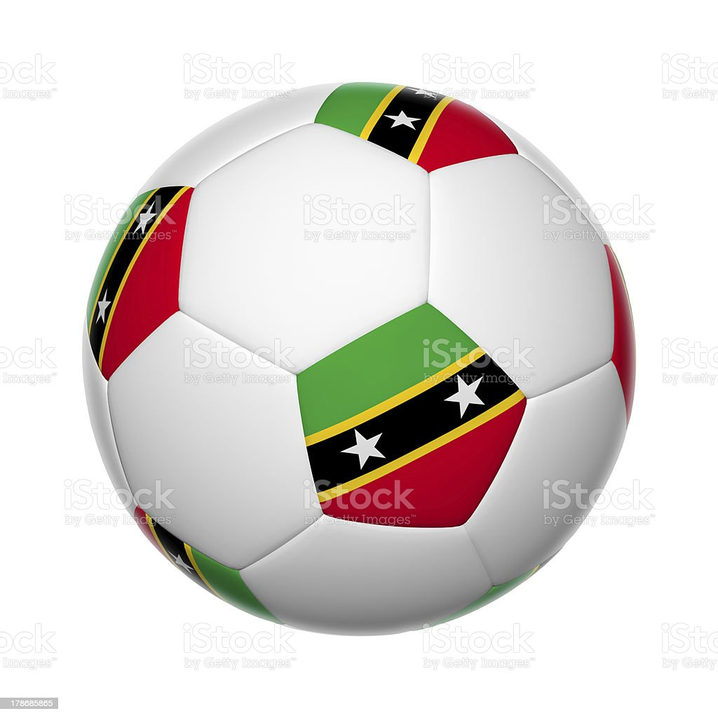 Saint Kitts and Nevis soccer ball stock photo