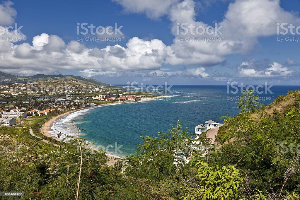 Saint Kitts Resort Area stock photo