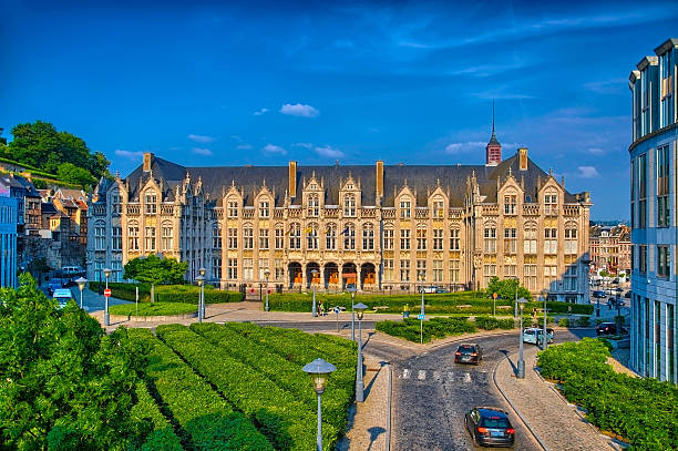 Saint lamberts in front of former palace Saint lamberts in front of former palace of the prince bishops in Liege, Belgium, Benelux, HDR lulik stock pictures, royalty-free photos & images