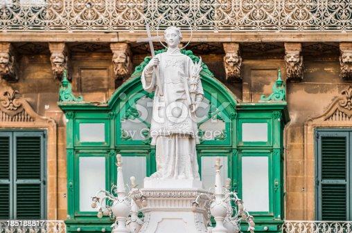istock Saint Lawrence at Vittoriosa Square in Birgu, Malta 185188817