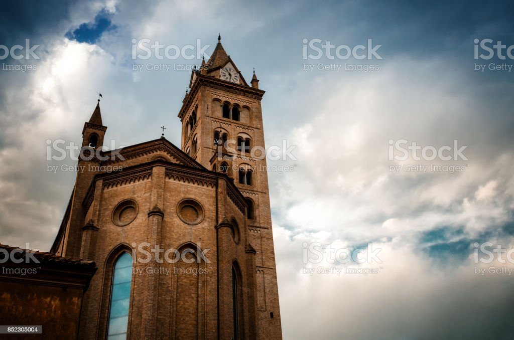Saint Lawrence cathedral of Alba stock photo