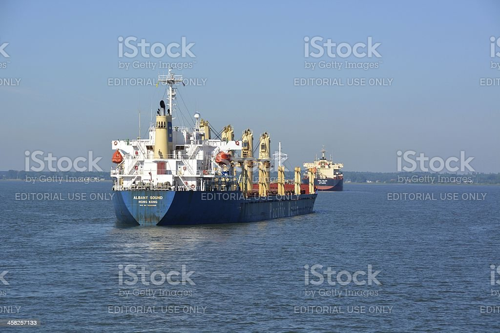 Saint Lawrence freight stock photo