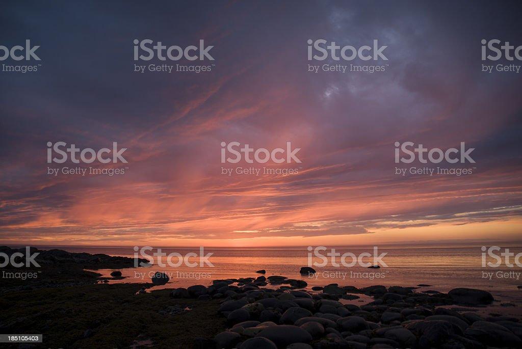 Saint Lawrence Sunset royalty-free stock photo