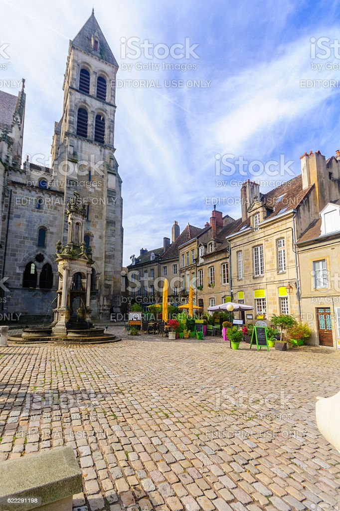 Saint Lazare Cathedral, in Autun stock photo
