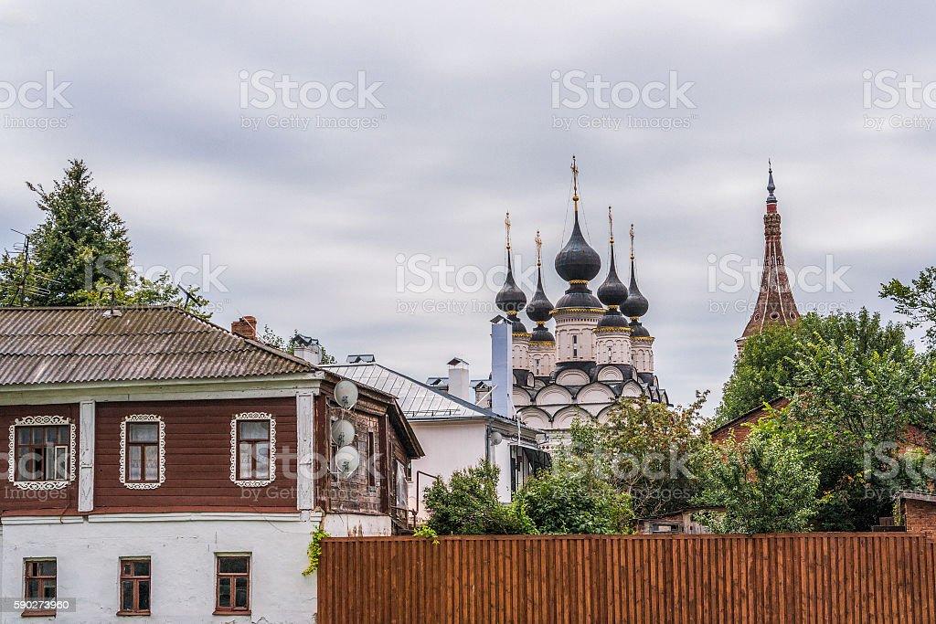 Saint Lazarus Church (1667) in Suzdal, Russia stock photo