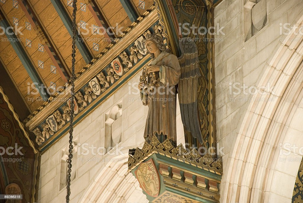 Saint looking upon prayers royalty-free stock photo