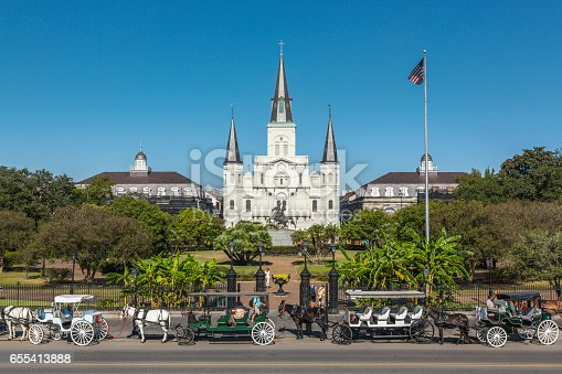 564604962 istock photo Saint Louis Cathedral in New Orleans 655413888
