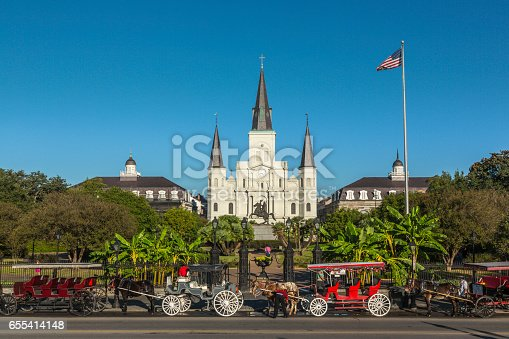 564604962 istock photo Saint Louis Cathedral in New Orleans 655414148