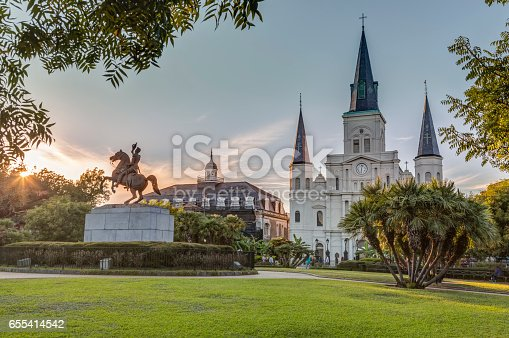 564604962 istock photo Saint Louis Cathedral in New Orleans 655414542