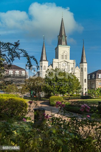 564604962 istock photo Saint Louis Cathedral in New Orleans 655414830