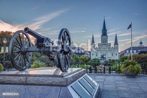 564604962 istock photo Saint Louis Cathedral in New Orleans 663955344
