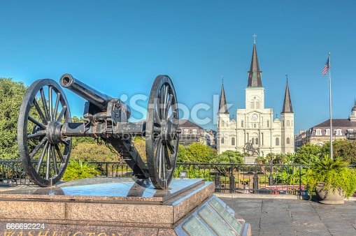 564604962 istock photo Saint Louis Cathedral in New Orleans 666692224
