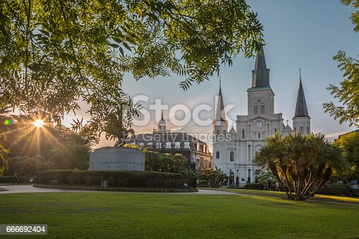 564604962 istock photo Saint Louis Cathedral in New Orleans 666692404