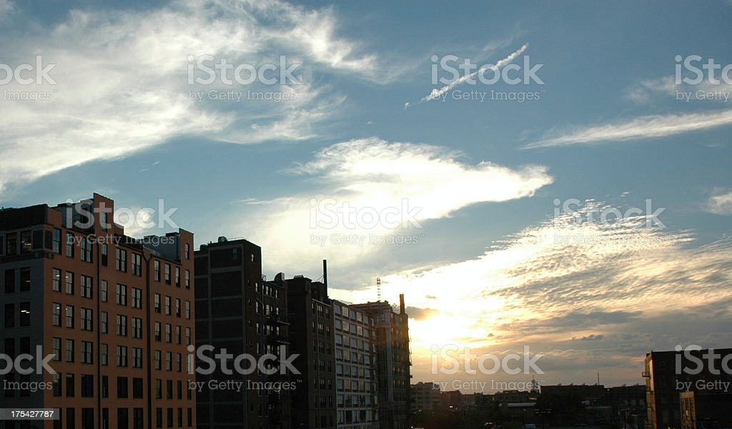 Saint Louis City View at Sunset stock photo