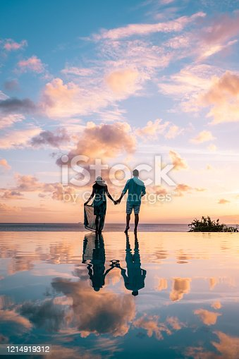 1055009962 istock photo Saint Lucia caribbean, couple on vacation at the tropical Island of St Lucia , men and woman on advenure trip 1214919312