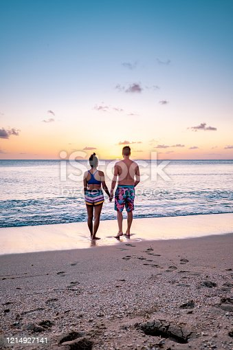 1055009962 istock photo Saint Lucia caribbean, couple on vacation at the tropical Island of St Lucia , men and woman on advenure trip 1214927141