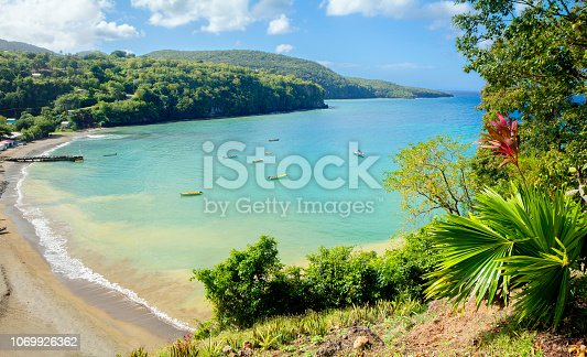 Saint Lucia is considered to be the most beautiful island in the Caribbean sea. The island has the best beaches in the Caribbean. Deep valleys, many of which are covered with thickets of bananas and coconuts, cut through the mountains; very picturesque densely forested cones of extinct volcanoes, many amazing beauty bays.