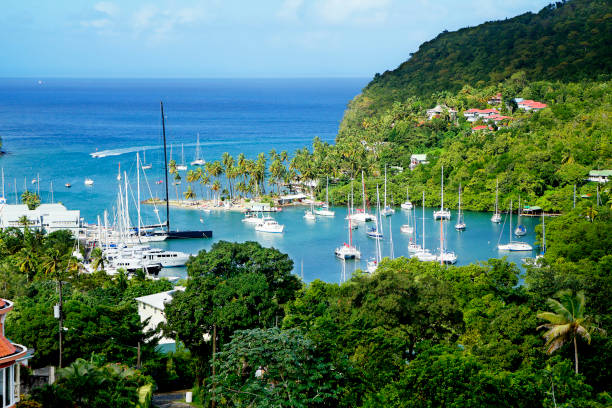 St. Lucia, Karibik, Yacht-Club. – Foto