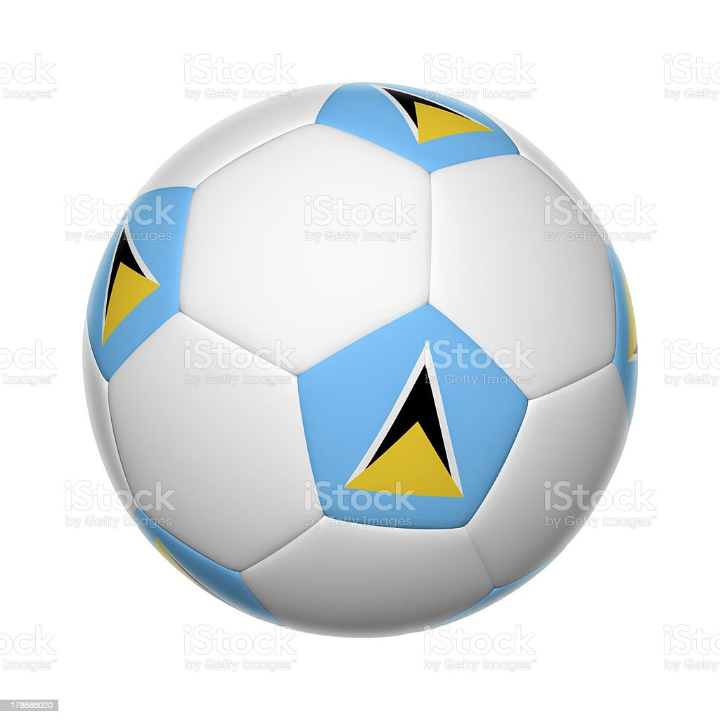 Saint Lucia soccer ball stock photo