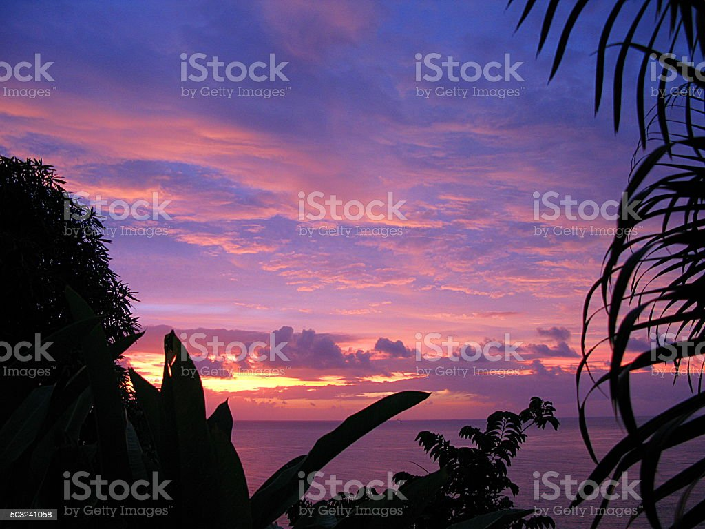 Saint Lucia Sunset stock photo
