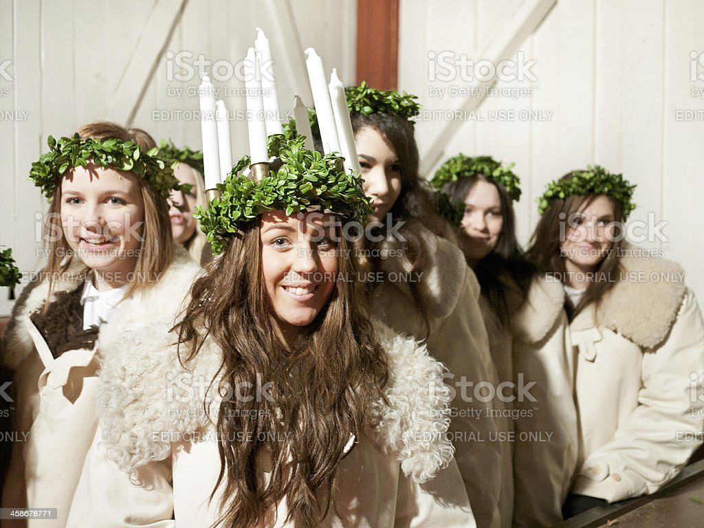 Saint Lucy's Day royalty-free stock photo