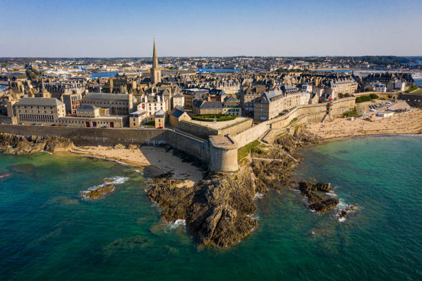 Saint Malo Brittany France stock photo