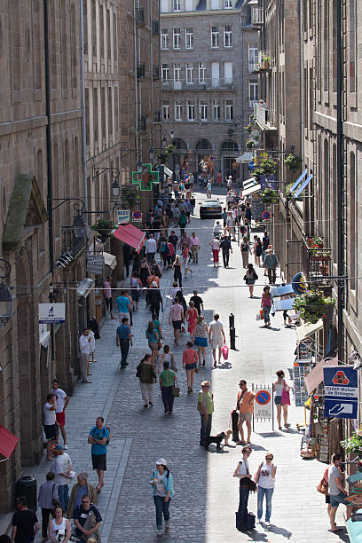 Saint Malo Street Shade and Light stock photo