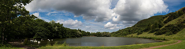 Saint Margaret's Loch Panoramic lake scene stock photo