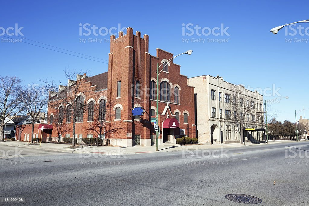 Saint Mark Church in Greater Grand Crossing, Chicago royalty-free stock photo