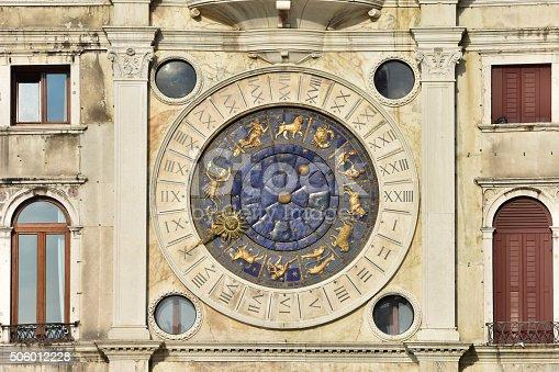 istock Saint Mark Clocktower with zodiac signs 506012228