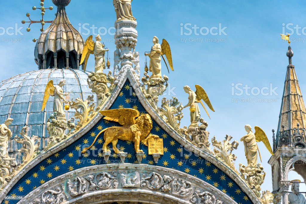 Saint Mark`s Basilica in Venice, Italy stock photo