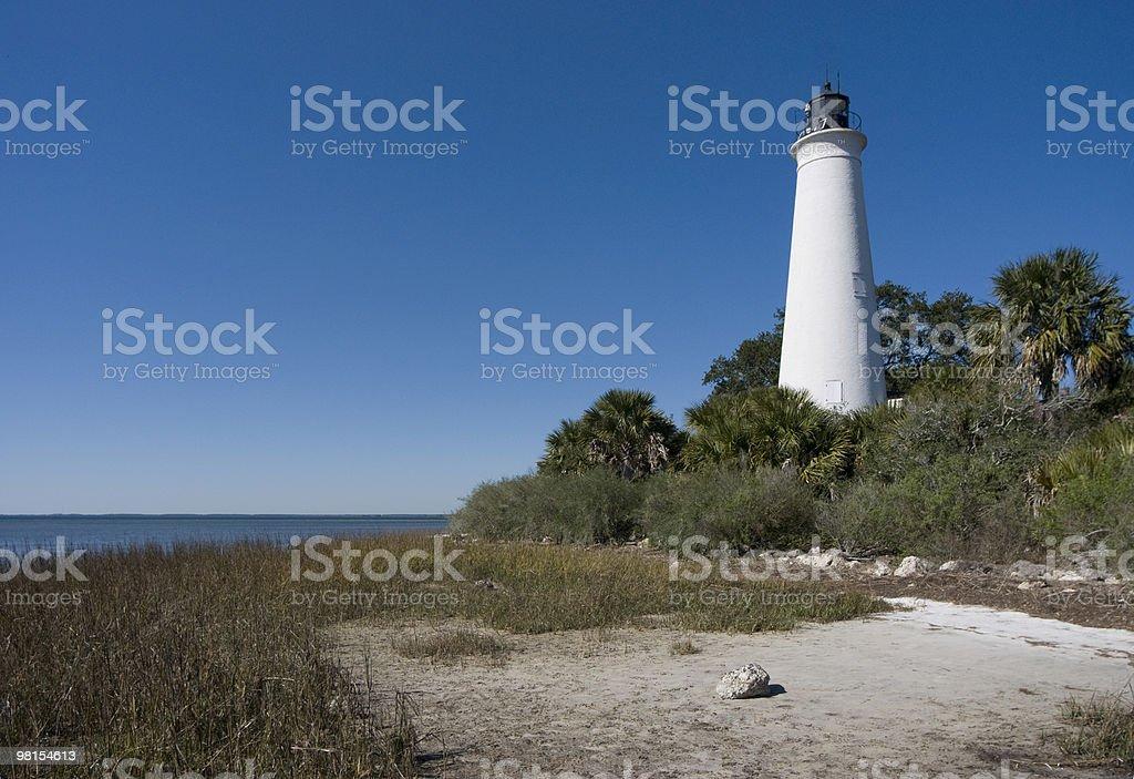 Saint Marks Lighthouse Florida royalty-free stock photo