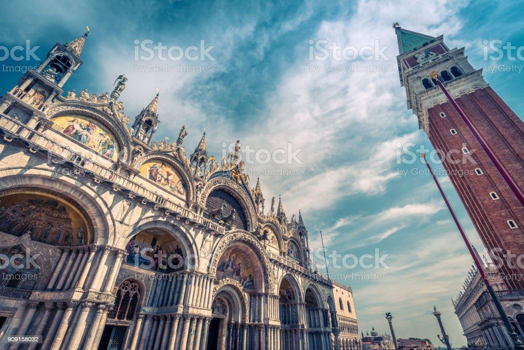 Saint Mark`s Square in Venice, Italy stock photo