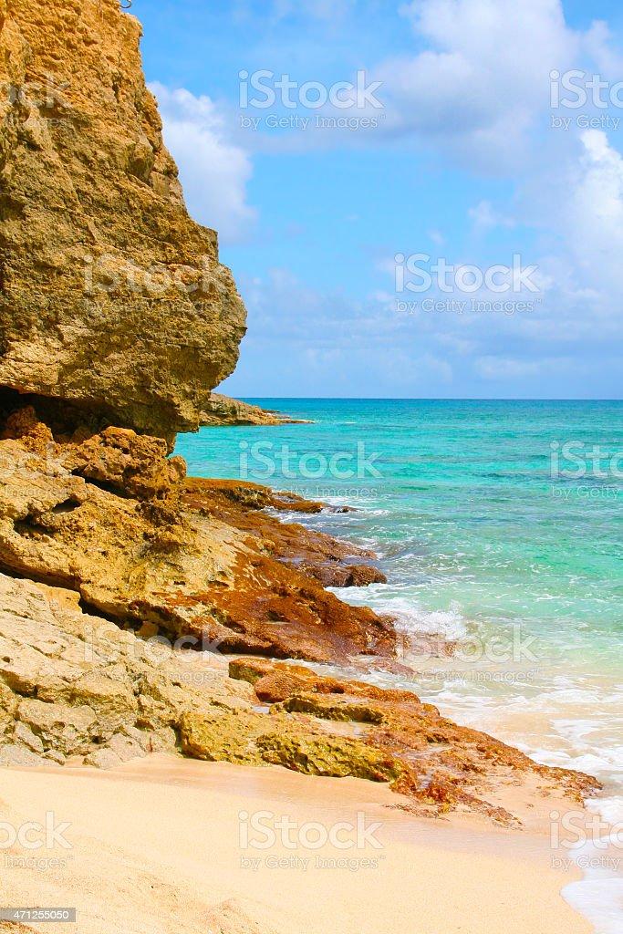 Saint Martin, Caribbean Sea - Cupecoy Beach stock photo
