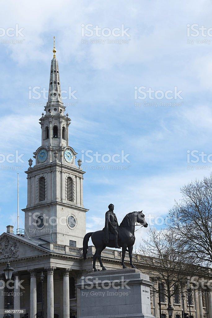 Saint Martin in the Fields Church in London stock photo