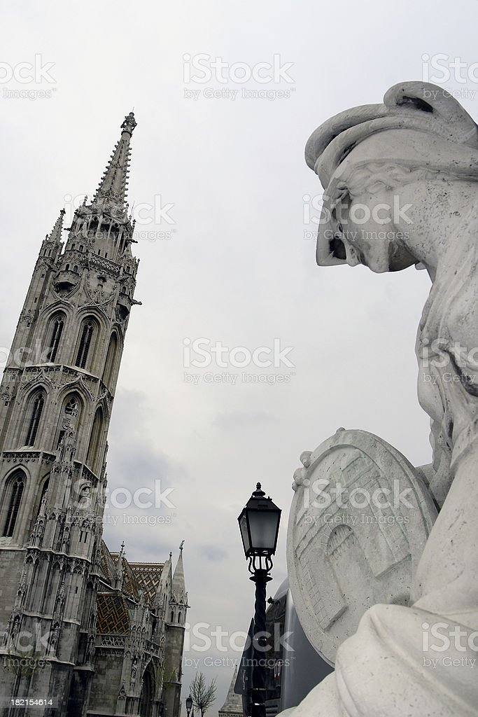 Saint Mary Cathedral, Budapest, Hungary stock photo