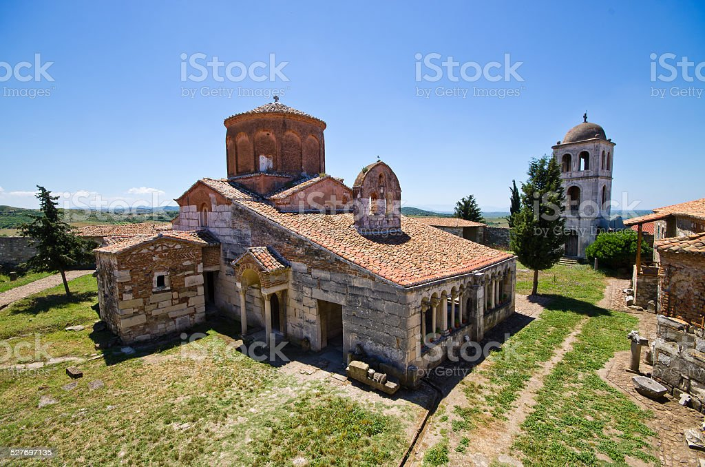 Saint Mary church in Apollonia, Albania stock photo