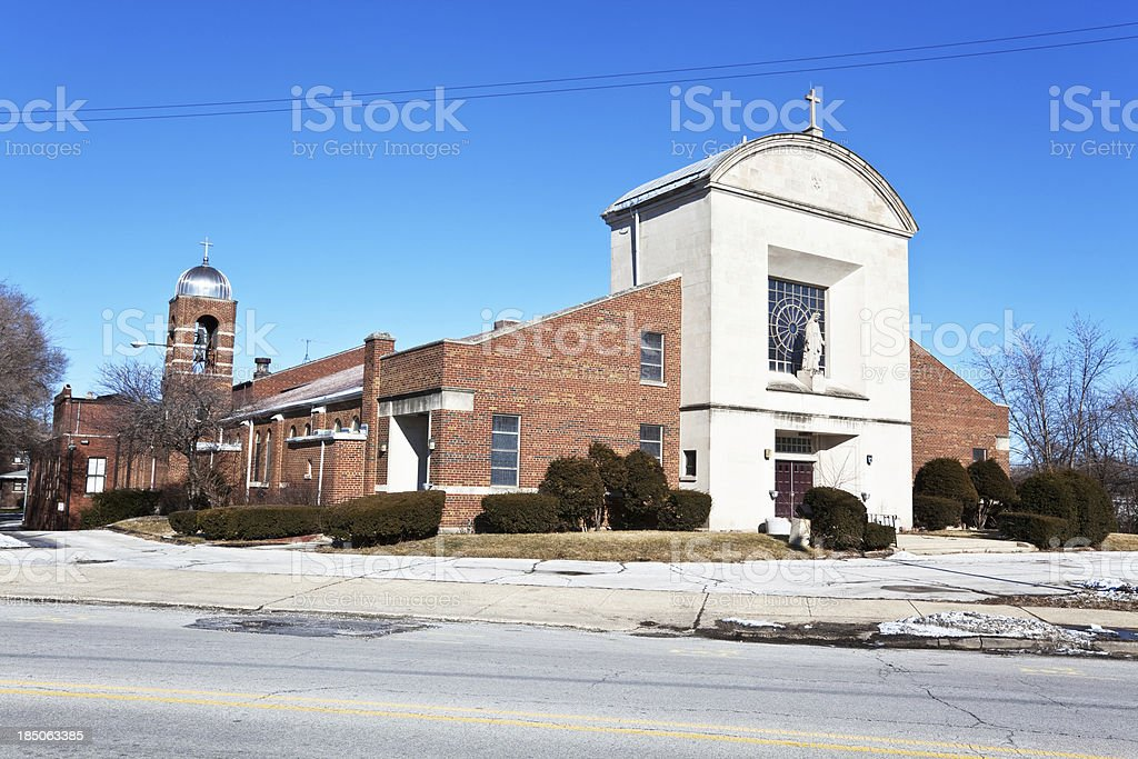 Saint Mary Church in Riverdale, Chicago royalty-free stock photo