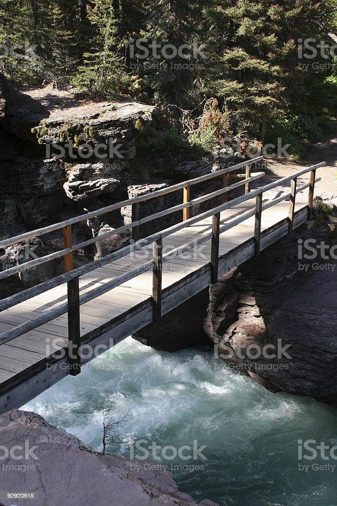 Saint Mary Falls, Glacier National Park royalty-free stock photo