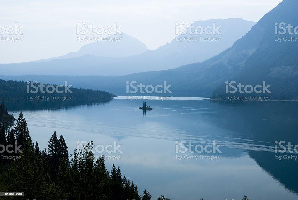 Saint Mary Lake royalty-free stock photo
