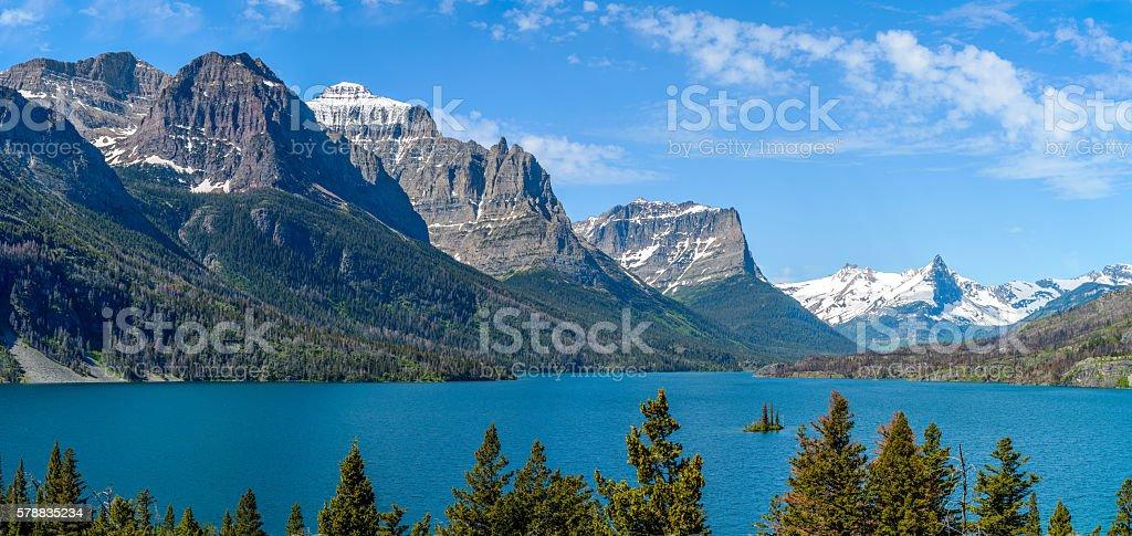 Saint Mary Lake stock photo